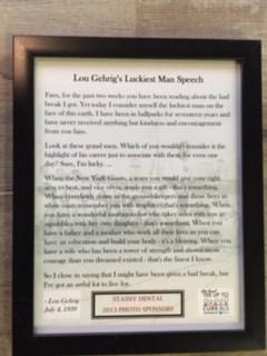 Gehrig's Luckiest Man Speech